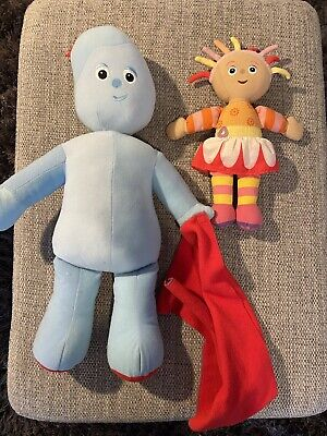 In The Night Garden UPSY DAISY & Iggle Piggle Soft Plush Toy Bundle • 8£