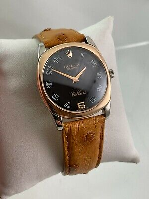 $ CDN5721 • Buy Rolex Cellini Danaos 4233 Cal. 1602 Two-Tone 18K Rose And White Gold Wristwatch