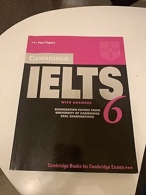 Cambridge IELTS 6 Student's Book With Answers ESOL Examination Papers • 9.99£