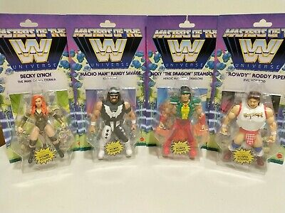 $119.95 • Buy Masters Of The Universe Wave 5 Complete Set Becky Lynch Wwe Macho Man Roddy Lot