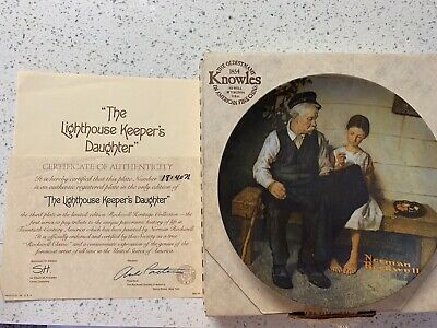 $ CDN25.16 • Buy Edwin Knowles Collector Plate Norman Rockwell Lighthouse Keeper's Daughter 1979