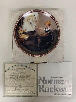 $ CDN24.98 • Buy Edwin Knowles Norman Rockwell Collector Plate Serious Business W/ Box & COA
