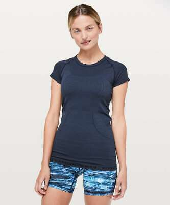$ CDN101.42 • Buy NEW LULULEMON Swiftly Tech Short Sleeve Crew *20Y Collection Navy Size 4 NWOT
