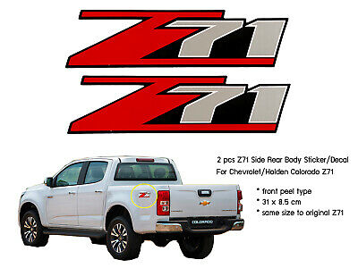 AU16.85 • Buy 2 Pc Z71 Side Rear Body Sticker Decal For Chevrolet Holden Colorado Rc Red Black