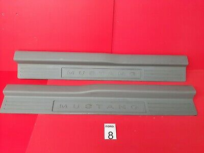 $49.99 • Buy US 2005-2014  Ford Mustang  Set Door Sill Scuff Cover Gry Trim 4R33-6313200 OEM