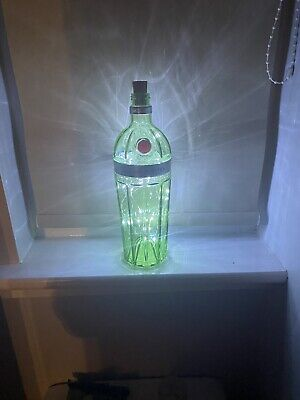 Vintage/ Retro Upcycled Tanqueray No.10 Gin Bottle With Cool White  LED Lights • 4.40£
