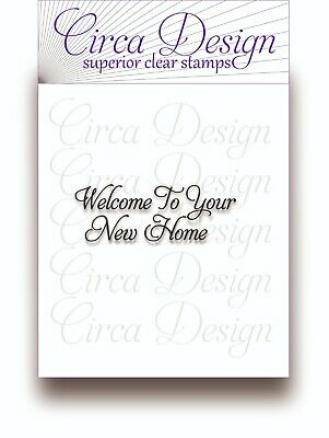 Clear Unmounted Special Occasion New Home Sentiment Verse Rubber Stamp EDVS48 • 4.75£
