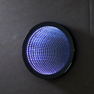 £125.95 • Buy LED Illuminated Infinity Effect Bathroom Wall Mirror Round Colorful Tunnel Light