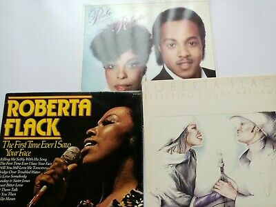 Roberta Flack LPs, X 3 Featuring Donny Hathaway And  Peabo Bryson • 3.75£