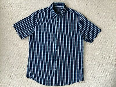 Atlantic Bay Soft Touch Short Sleeve Blue Shirt. Size M • 2.50£