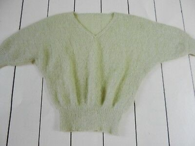 Knitting Pattern Women Ladies V Neck Batwing Jumper Mohair 81-107cm • 1.75£