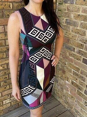 £75 • Buy Versace Collection Authentic Multicolored Dress IT 38 UK8