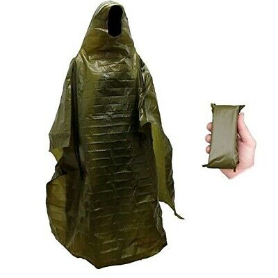 $15 • Buy Lightweight Rain Gear Poncho Emergency Survival Cover Shelter Norwegian Military