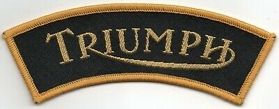 Triumph Motorcycle Curved Woven Badge Patch Sew On  • 2.50£