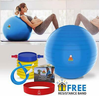 Exercise Ball, Fitness Workout & Chair Pregnancy Ball Anti-Burst Yoga Pilates • 15.84£