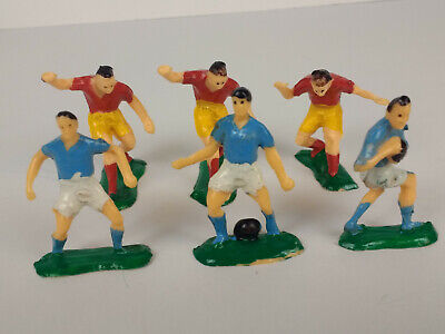£4.30 • Buy Vintage Plastic Cake Topper Figures 6 Rugby Players