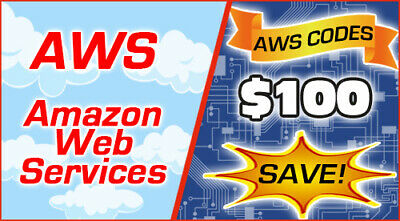 $ CDN50.43 • Buy AWS $100 Code Amazon Promocode Credit Web Services Refill For Student 10/10/2020