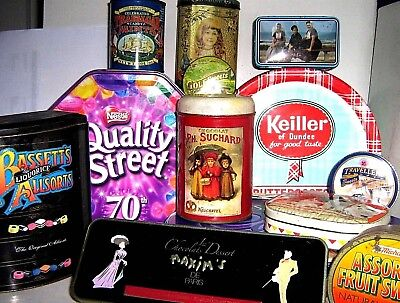 VINTAGE UK CONFECTION TINS - With Others -- Click SELECT To View INDIVIDUAL Tins • 9£