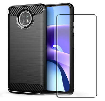 AU10.68 • Buy SDTEK Carbon Case For Xiaomi Redmi Note 9T Cover And Glass Screen Protector
