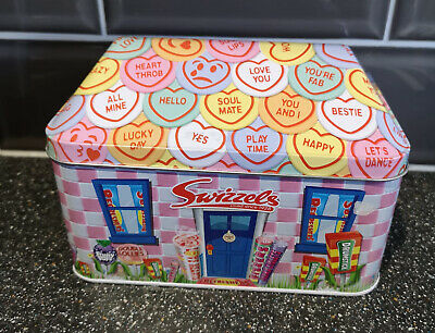 Swizzels Limited Edition Metal Hinged Lid Tin With Sweets Lovely Xmas Gift🎄🎁 • 3.50£