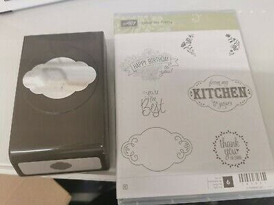 Stampin Up LABEL ME PRETTY Stamps And PUNCH BUNDLE • 20£