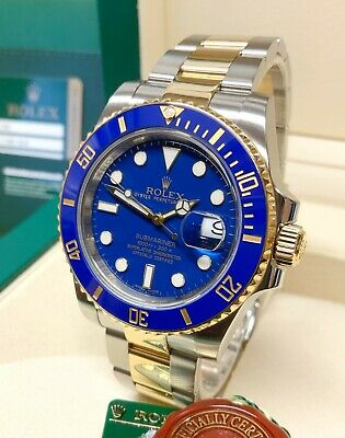 $ CDN20593.08 • Buy Rolex Submariner Date 116613LB Bi Colour Blue Dial 40mm WITH PAPERS