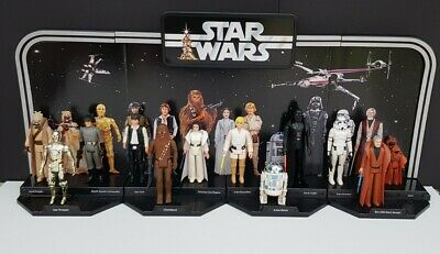 $ CDN528.25 • Buy Vintage Star Wars First 12 Figures With Early Bird Style Display Stand Job Lot