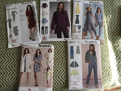 SIMPLICITY Ladies Dressmaking Patterns (new) X 5 • 9.50£