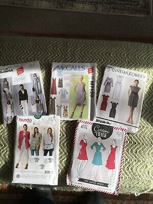 Ladies Dressmaking Patterns (new) X 5 Assorted Brands • 9.50£