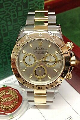 $ CDN24693.96 • Buy Rolex Daytona Bi Colour 116523 Steel Dial 40mm With Papers SERVICED BY ROLEX