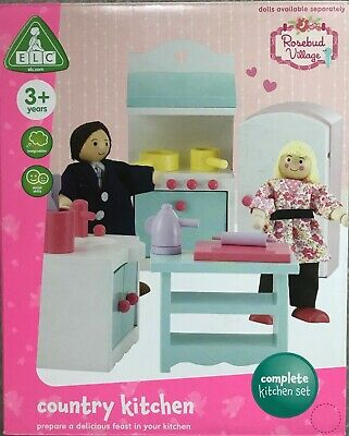£27.99 • Buy ELC Rosebud Country Kitchen Wooden Furniture Set For Dolls House Pretend Play