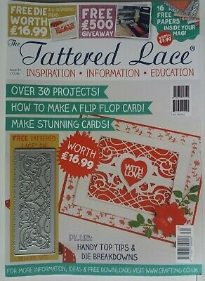 Tattered Lace Magazine Issue 31 With Free Die Worth £16.99 (all Papers Intact) • 2.90£