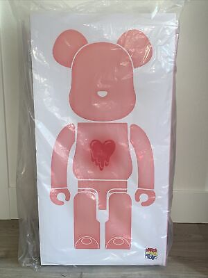$2449.99 • Buy Emotionally Unavailable Bearbrick Be@rbrick 1000% Clear Red Heart