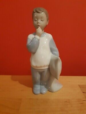 Nao By Lladro Night Night Boy With Pillow Figurine • 20£