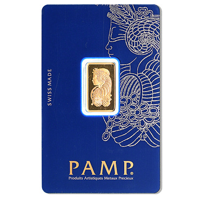 £295 • Buy 5g PAMP Fortuna Minted Gold Bar | Fast Delivery | Certificate | Velvet Pouch