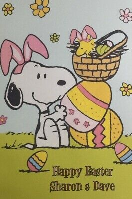 Personalised Home Designed Easter Card - Snoopy • 3.25£