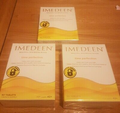 IMEDEEN Time Perfection Anti-Aging Beauty Supplement 3x60=180 Tablets Sealed • 54.99£