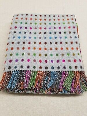 Unlabeled Moons GREY SPOT 100% LAMBS Wool Throw ( Seconds  )  • 39£