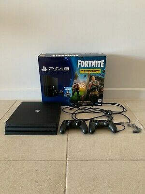 AU300 • Buy Sony PS4 Pro 1TB Includes All Cables, 2x Controllers, Microphone & Charger