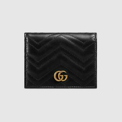 AU129.15 • Buy NR $490 GUCCI New Black Marmont Card Case Wallet Bag New In Box
