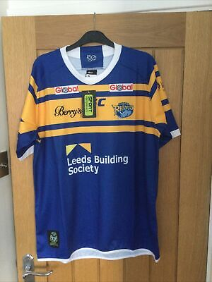 Man's Leeds Rhinos Rugby Shirt Size X Large New With Tags • 9.99£