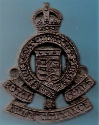 Royal Army Ordnance Corps Wwi Plastic Cap Badge • 5£