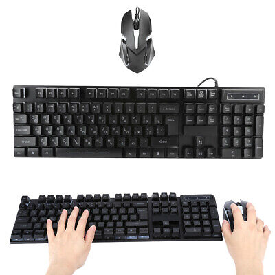 AU47.75 • Buy Keyboard And Mouse Combo 104 Keys With LED Backlight Gaming Keyboard Cool
