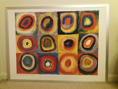 Kandinsky Concentric Circles Poster In Aluminium Frame 90x120 Cm From IKEA • 6.99£