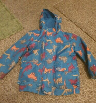 Joules Blue Dinosaur Coat Age 7 Years • 2.60£