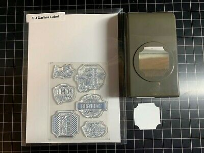 STAMPIN' UP DARLING LABEL Paper Punch & Clear Stamp Set Card Making RETIRED • 5.01£