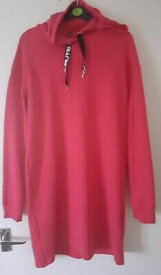 $ CDN7.89 • Buy Womens Divided By H&M Pink Jumper Dress With Hoodie Uk Size 12