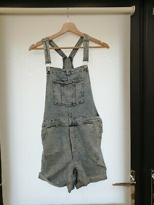 H And M Girls Blue Denim In Dungaree Shorts Age 13-14Y • 4.20£