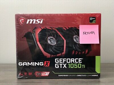 $ CDN431.33 • Buy NEW MSI NVIDIA GeForce GTX 1050 TI GAMING X 4GB Video Card *FREE SHIPPING*