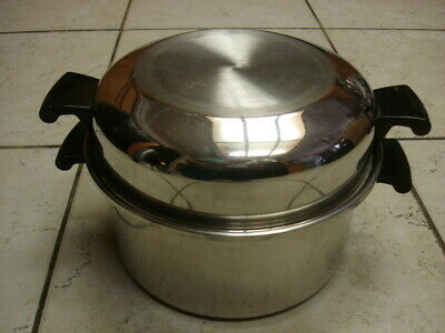 $ CDN74.99 • Buy Amway Queen 6 Qt. Stock Pot & Dome Lid 18/8 3 Ply Stainless Steel Mint